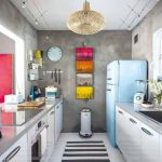 Kabinet Dapur Kecil Modern Retro