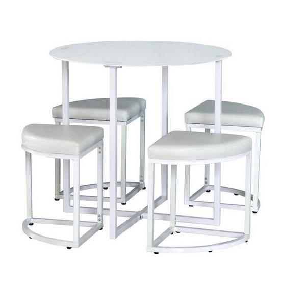 Meja Makan Bulat Putih