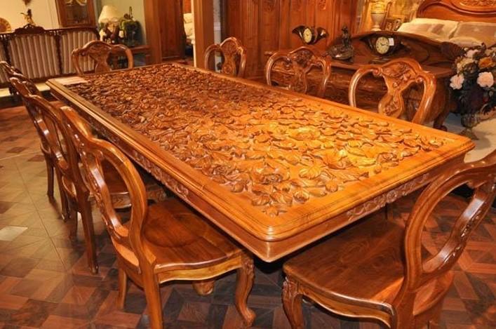 Meja Makan Jati Custom