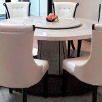 Meja Makan Kaca Putar