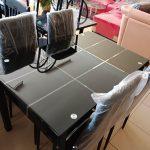 Meja Makan Kaca Susun