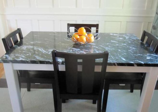 Meja Makan Kayu Granit
