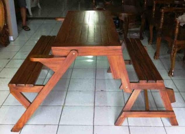 Meja Makan Lipat Sofa