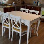 Meja Makan Minimalis 4 Kursi Warna Putih