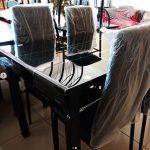 Meja Makan Set Kaca