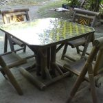 Model Meja Makan Dari Bambu