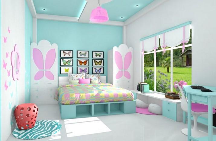 Warna Cat Kamar Tidur Anak Perempuan Minimalis
