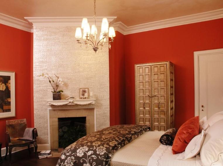 Warna Cat Kamar Tidur Merah Romantis