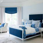 Warna Cat Kamar Tidur Minimalis Biru dan Putih