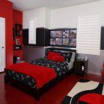 Warna Cat Kamar Tidur Minimalis Merah dan Putih