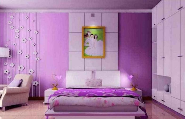Warna Cat Kamar Tidur Pink Ungu