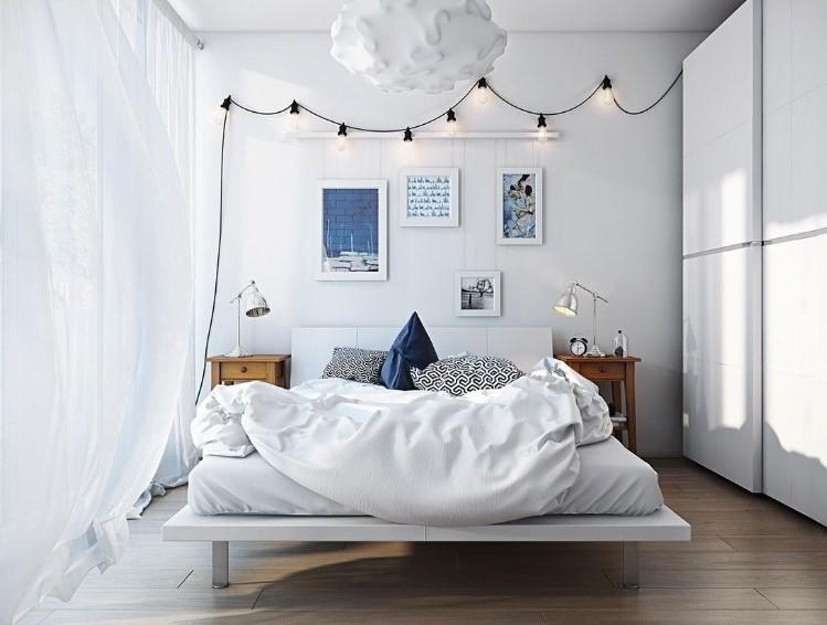 Warna Cat Kamar Tidur Putih Romantis