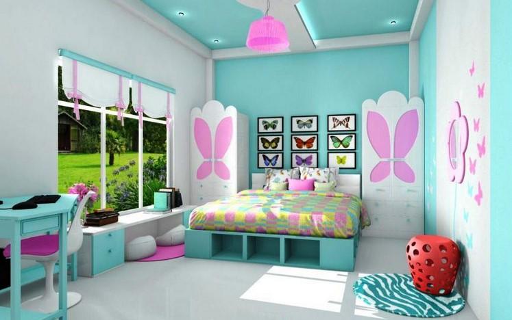 Warna Cat Tembok Kamar Tidur Anak Perempuan