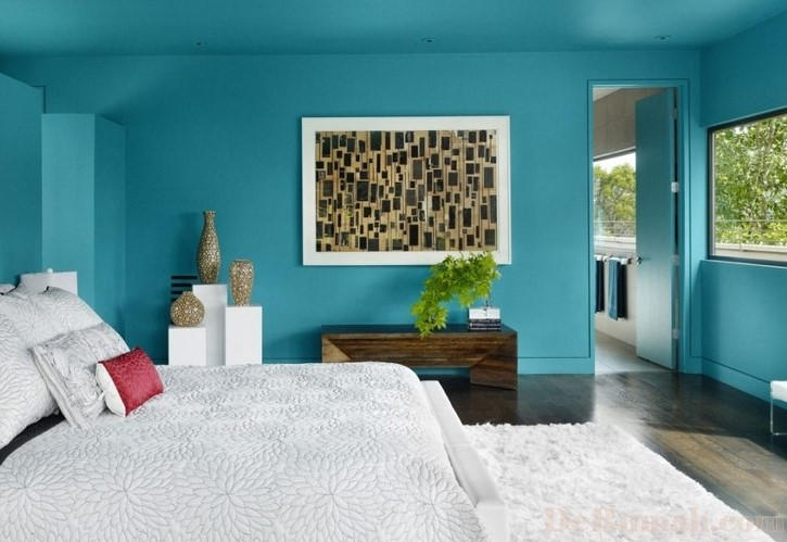 21 Kombinasi Warna Cat Kamar Tidur Romantis Terbaru 2020