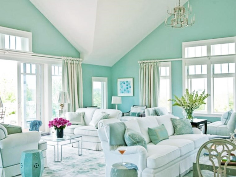 Cat Dinding Ruang Tamu 2 Warna Yang Cantik