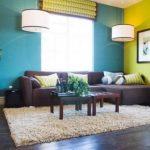 Cat Dinding Ruang Tamu Minimalis Modern Kombinasi 2 Warna