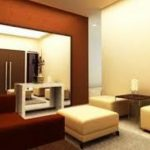 Cat Ruang Tamu 2 Warna Coklat dan Krem