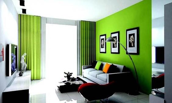 Cat Tembok Ruang Tamu Kombinasi 2 Warna