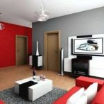 Contoh Cat Dinding Ruang Tamu 2 Warna