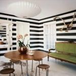Contoh Warna Cat Ruang Tamu 2 Warna Garis Garis
