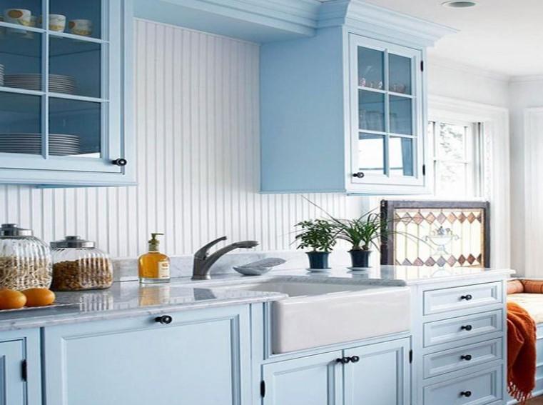 Dapur Minimalis Nuansa Biru