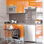 Dapur Minimalis Nuansa Orange