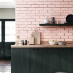 Dapur Minimalis Nuansa Pink