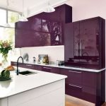 Dapur Minimalis Nuansa Ungu