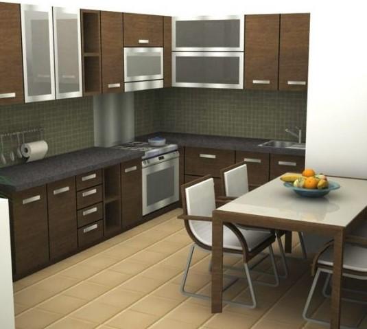 Dapur Minimalis Sempit Ukuran 2x3