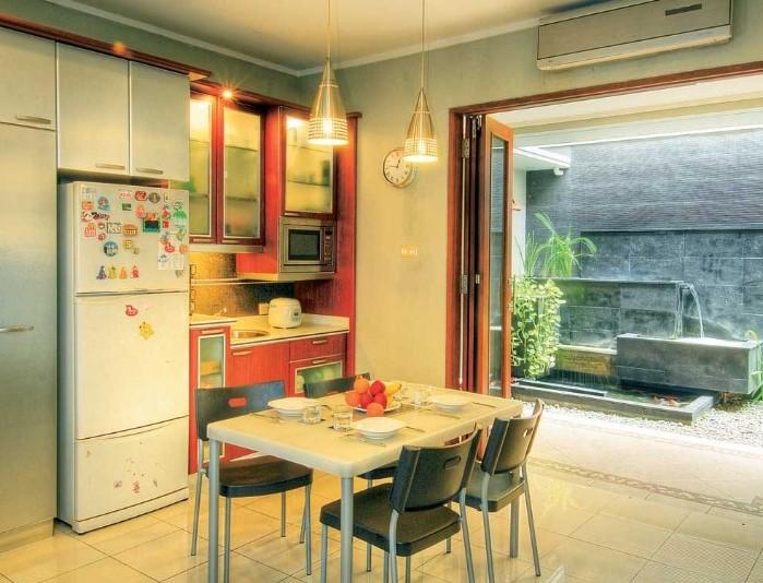 Dapur Minimalis Terbuka Dengan Ruang Makan
