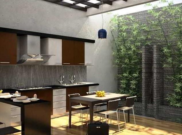 Dapur Outdoor Minimalis Modern