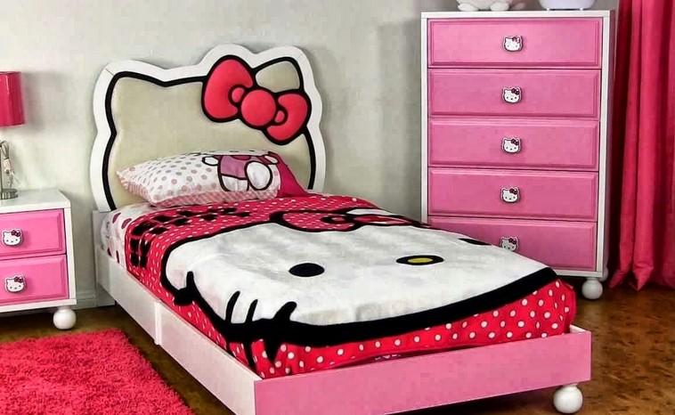 Dekorasi Kamar Anak Tema Hello Kitty