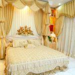 Dekorasi Kamar Pengantin Warna Gold