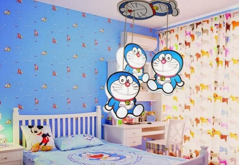 Dekorasi Kamar Sederhana Tema Doraemon