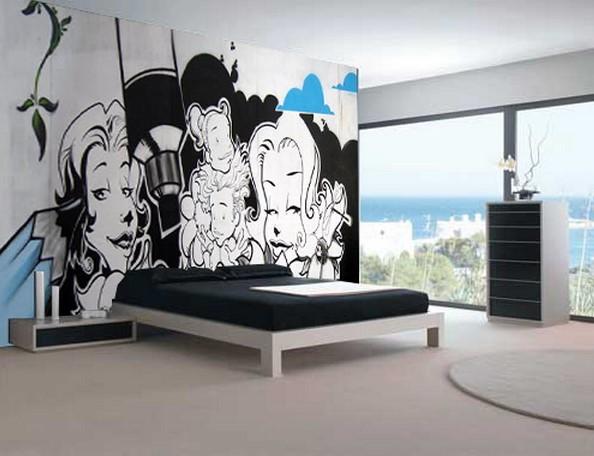 Dekorasi Kamar Tidur Graffiti