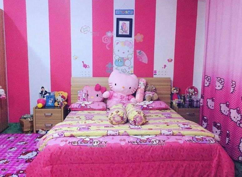 Dekorasi Kamar Tidur Hello Kitty