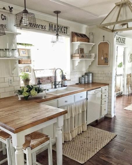 Desain Dapur Cantik Ala Shabby Chic