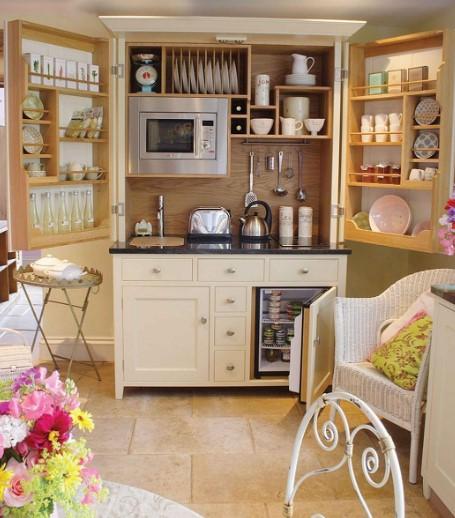 Desain Dapur Cantik Bentuk Lemari