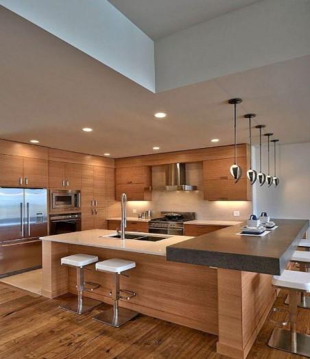 Desain Dapur Cantik Kayu Modern