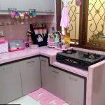 Desain Dapur Cantik Warna Pink