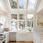 Desain Dapur Dengan Atap Terbuka