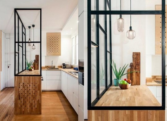 Desain Dapur Kecil Tema Industrial