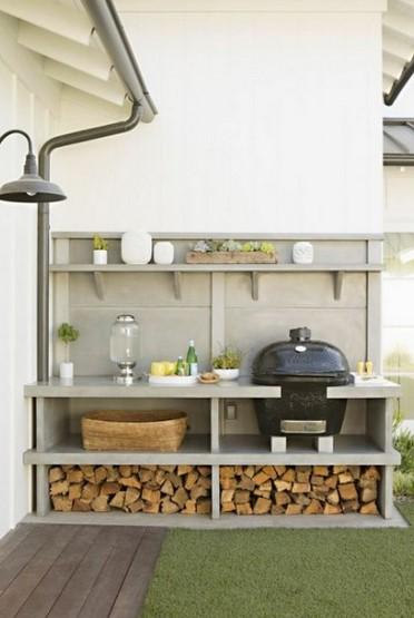 Desain Dapur Outdoor Sempit
