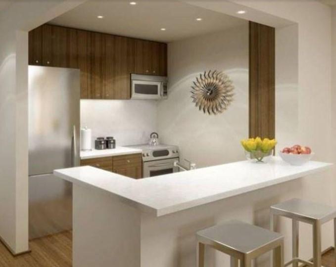 Desain Dapur Sederhana Di Sudut Ruangan