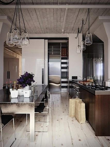Desain Dapur Sempit Gaya Industrial