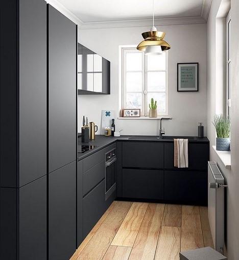 Desain Dapur Sempit Minimalis Memanjang
