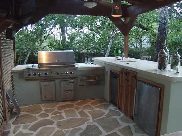 Desain Dapur Sempit Terbuka
