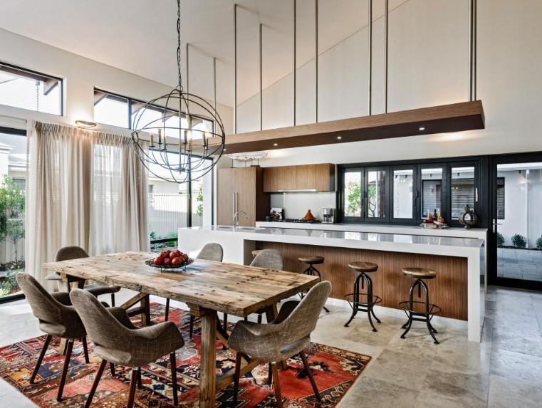 Desain Dapur Terbuka Dengan Bukaan Maksimal