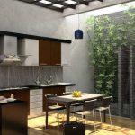Desain Dapur Terbuka Minimalis dengan Ruang Makan