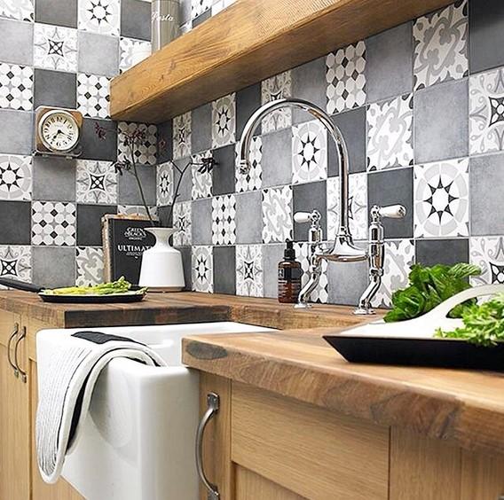Desain Dinding Dapur Cantik